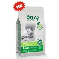Oasy Adult Sterilizzato Tacchino 1,5 Kg Crocchette per Gatti