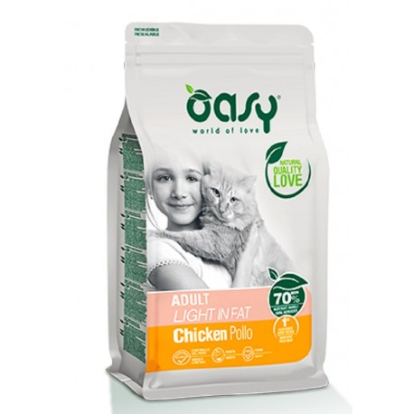 Oasy Adult Light in Fat 300 gr Crocchette per Gatti in Sovrappeso
