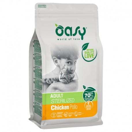 Oasy Adult Sterilized Pollo 300 gr Crocchette per Gatti