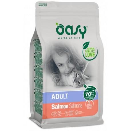 Oasy Dry Cat Adult Salmone Alimento secco per gatti 300 gr