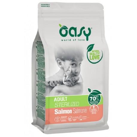 Oasy Dry Cat Sterilizzato Salmone Alimento secco per gatti 1,5 Kg