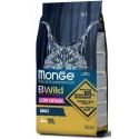 Monge Bwild Gatto Low Grain Adult Lepre 1,5 Kg Croccantini per Gattini
