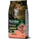 Monge Bwild Gatto Grain Free Adult Salmone con Piselli 1,5 Kg Croccantini per Gatti
