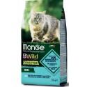 Monge Bwild Gatto Grain Free Adult Merluzzo con Patate e Lenticchie 1,5 Kg Croccantini per Gatti