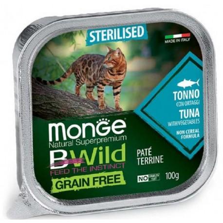 Monge Bwild Grain Free Patè Tonno in Vaschetta 100 gr per Gatto