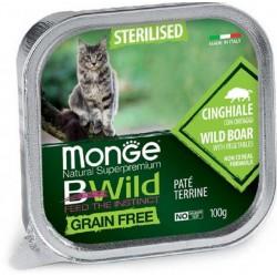 Monge Bwild Grain Free Patè Cinghiale in Vaschetta 100 gr per Gatto