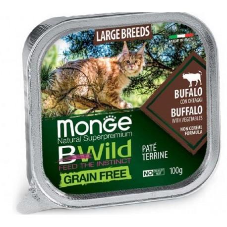 Monge Bwild Grain Free Patè Bufalo in Vaschetta 100 gr per Gatto