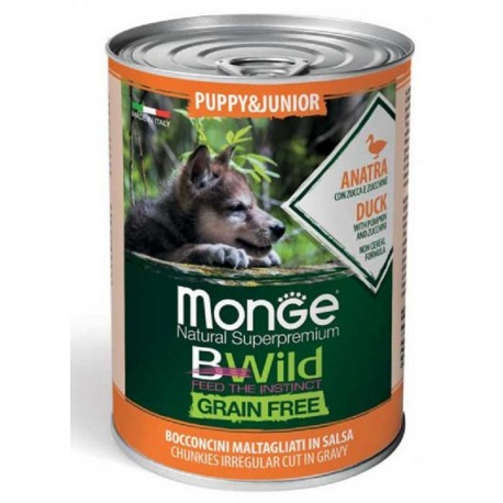Monge Bwild Grain Free Bocconcini all'Anatra Puppy & Junior 400gr