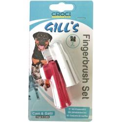 Gill's Set Spazzolini dentali da dito per Cani e Gatti