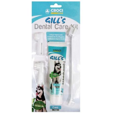 Gill's Kit Dental Care set per la pulizia dei denti del cane