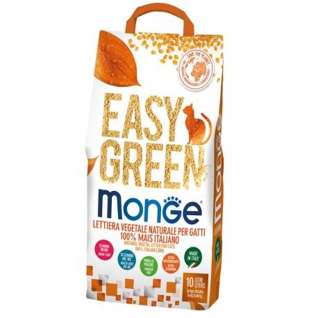 Monge Easy Green Mais Italiano Lettiera Vegetale 10 Lt per Gatto