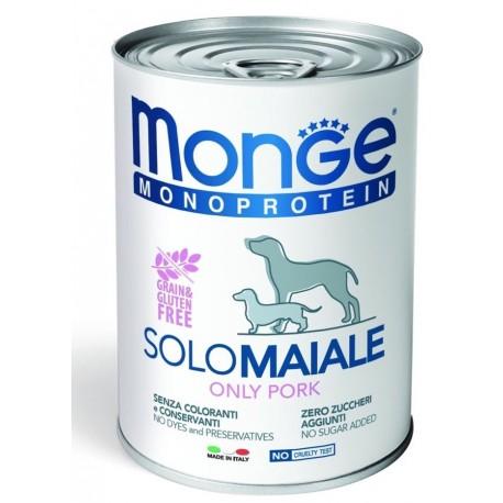 Monge Monoprotein Solo Maiale lattina 400 gr per Cane