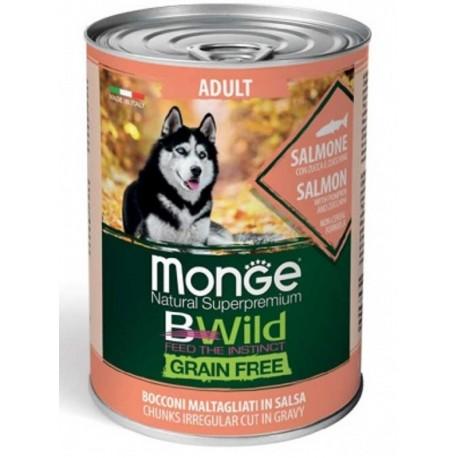 Monge Bwild Grain Free Bocconcini Salmone Adult 400 gr