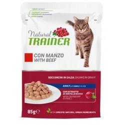 Trainer Natural Cat Adult con Manzo Bocconcini per Gatto 85 gr