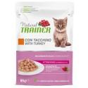 Trainer Natural Cat Kitten con Tacchino Bocconcini per Gatto 85 gr