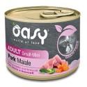 Oasy Grain Free Adult Small Mini Maiale 200 gr per Cane