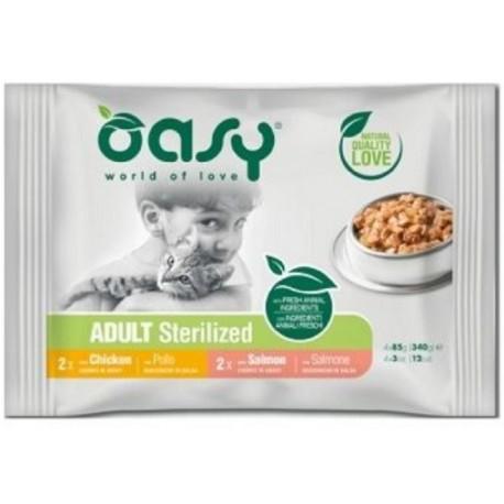 Oasy Multipack Adult Bocconcini Sterilizzato per Gatto 4x85 gr