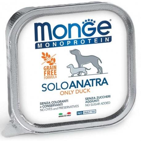 Monge Monoprotein Solo Anatra Vaschetta 150 gr per Cane