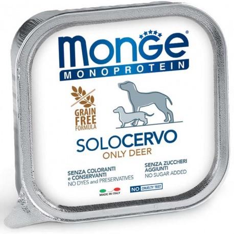 Monge Monoprotein Solo Cervo Vaschetta 150 gr per Cane