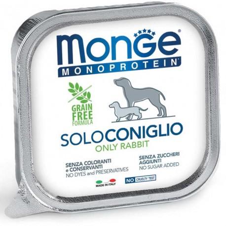 Monge Monoprotein Solo Coniglio Vaschetta 150 gr per Cane