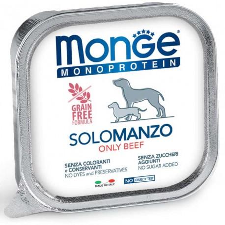 Monge Monoprotein Solo Manzo Vaschetta 150 gr per Cane