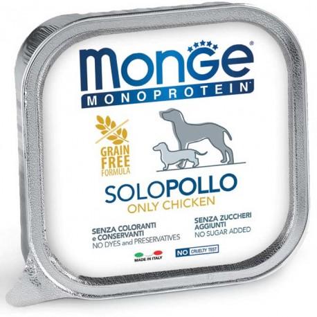 Monge Monoprotein Solo Pollo Vaschetta 150 gr per Cane
