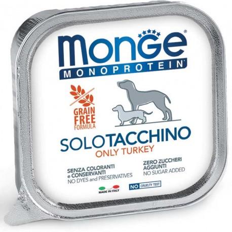 Monge Monoprotein Solo Tacchino Vaschetta 150 gr per Cane