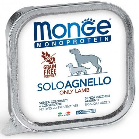 Monge Monoprotein Solo Agnello Vaschetta 150 gr per Cane