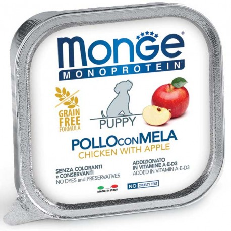 Monge Monoprotein Puppy Pollo con Mela Vaschetta 150 gr per Cuccioli