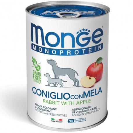 Monge Monoprotein Coniglio con Mela Lattina 400gr per Cane