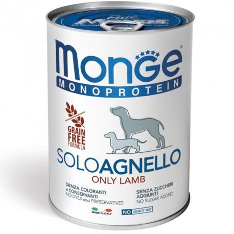 Monge Monoprotein Solo Agnello Lattina 400 gr per Cane