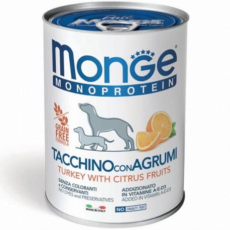 Monge Monoprotein Tacchino con Agrumi Lattina 400 gr per Cane