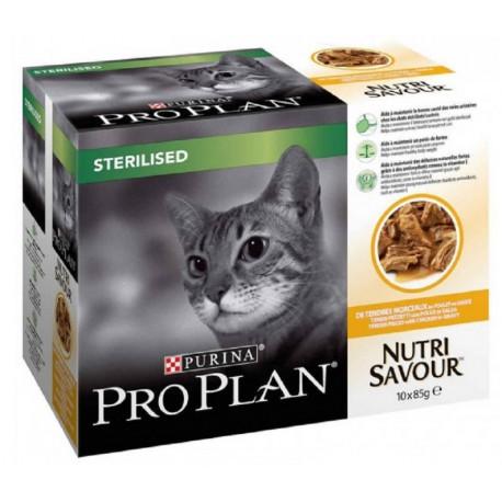 Pro Plan Sterilised con Pollo Multipack Bustine 10 x 85 gr per Gatti