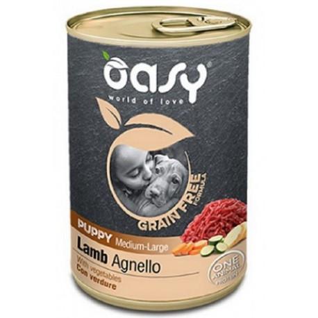 Oasy Grain Free Puppy Medium Large Agnello 400 gr per Cane