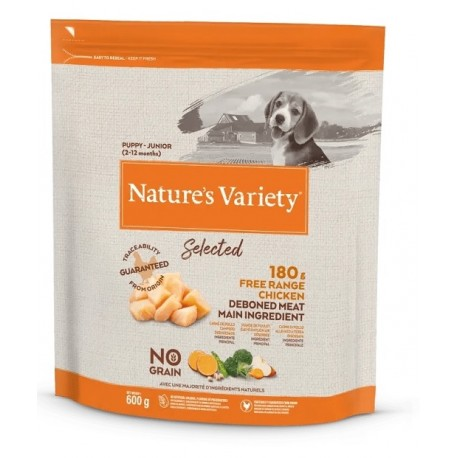 Nature's Variety Cane 600 gr Selected Puppy & Junior con Pollo