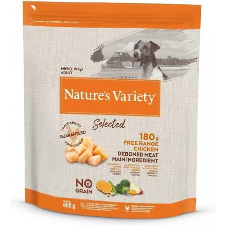 Nature's Variety Cane 600 gr Selected Mini Adult NO GRAIN con Pollo