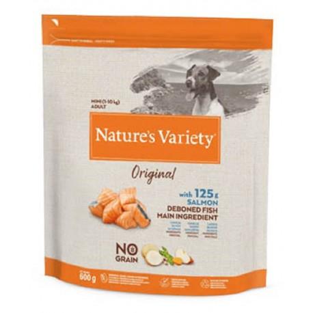 Nature's Variety Cane 600 gr Original Mini Adult NO GRAIN con Salmone