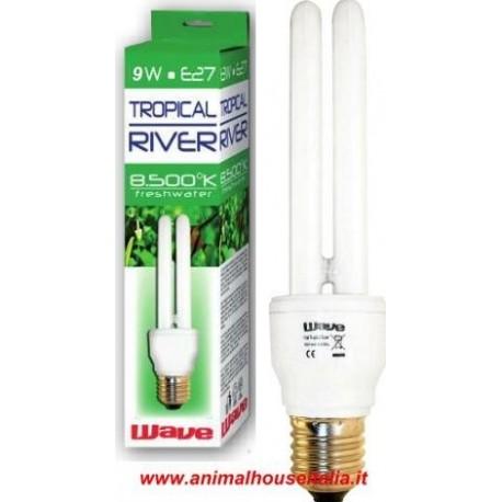 Lampada Tropical River 9w compact E27