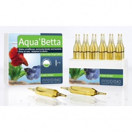 Prodibio Aqua Betta 12 fiale biocondizionatore e batteri in fiale per Betta