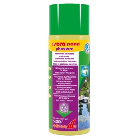 Sera Pond Phosvec 500 ml per 5000lt Anti Alghe per Laghetto