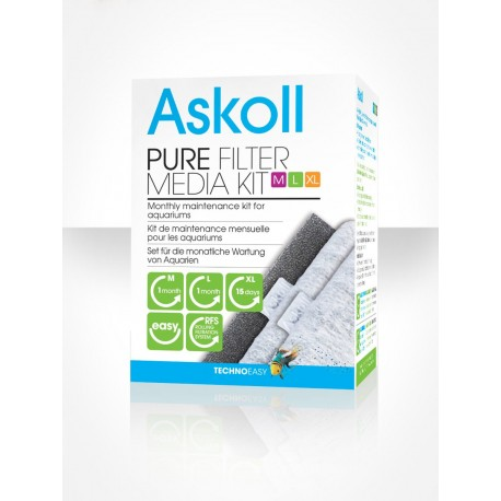 Askoll Pure filter media kit M L XL - Ricambio per filtro acquario Pure
