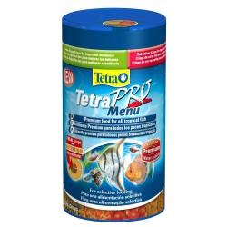 Tetra PRO Menu 250ml 64g Mangime 4 scomparti con 4 diversi crisp per pesci