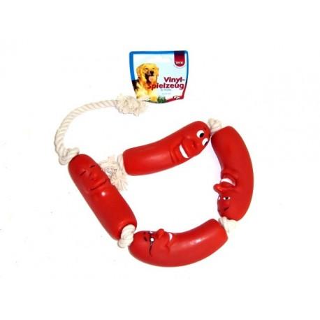 Trixie gioco corda con 4 salsicce ART. 3252 cm 75