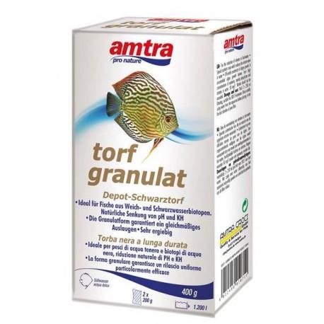 Amtra Torf granulat 400g tratta 1200lt Torba nera per acquario Discus