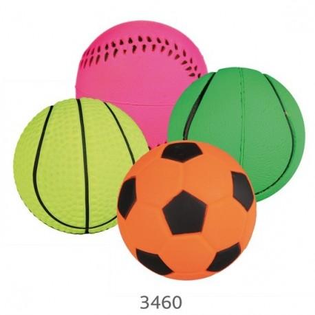 Trixie Gioco palla in gomma fluorescente 4,5 cm colori assortiti per cane cod. 34602