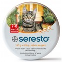 Bayer Seresto collare antiparassitario per gatto antipulci e antizecche