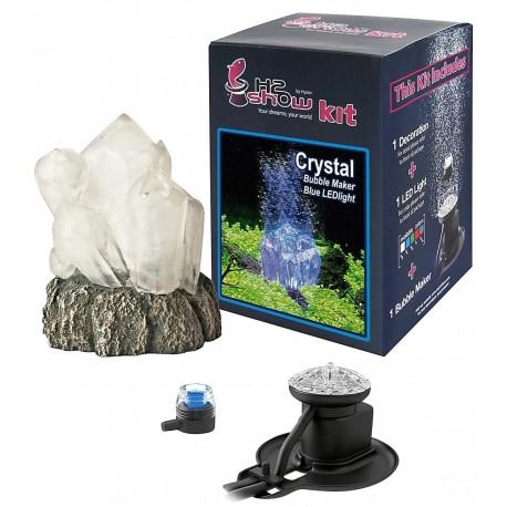 Hydor H2Show Kit Crystal cristallo decorazione con aeratore e led per Acquario