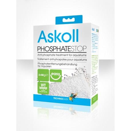 Askoll Fosfati Stop 2x50g per 100lt materiale filtrante trattamento acquario
