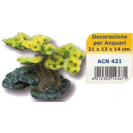 Decoro Roccia con Bonsai small ACN421