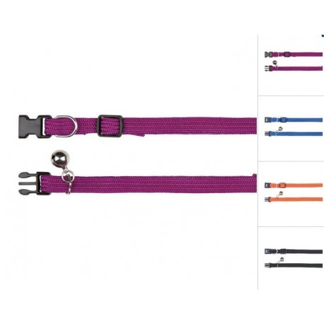 Trixie collare nylon elastico con clip per gatto cod. 4154